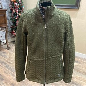 SPYDER Cable Core Fleece Lined Sweater Jacket